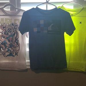 Boys 10/12 Hurley & Quiksilver Shirt Bundle